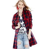Moda Mujer camisetas camisa larga de algodón puro y traje de manga larga Camisetas europeas y americanas,Y,La