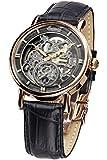 Ingersoll Armbanduhr Herrenuhr Automatik Nez Percé - Analoge Uhr mit schwarzem Lederarmband und grauem Zifferblatt - 30m/3atm - IN1918RBK