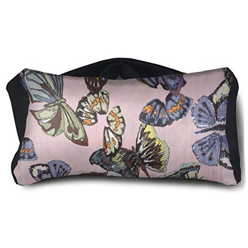 Kaixin J Portable Eye Pillow Butterfly Print Eyeshade Blindfold for Yoga Sleep Aid Stress Relief Travel Work Naps -