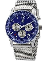 Constantin Durmont Herren-Armbanduhr XL Air Commander Chronograph Quarz Edelstahl CD-AIRC-QZ-STM2-STST-BL