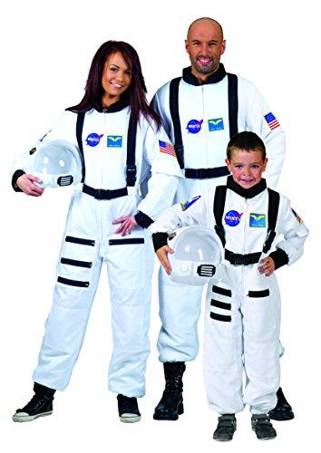 Weißes Astronaut Kostüm für Erwachsene (Astronaut Kostüme Männer)