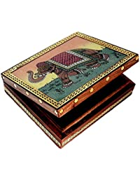 Maneet Stores Gift & Dry Fruit Multi Purpose Box_Brown With Unique Design