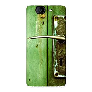 Impressive Classic Door Green Back Case Cover for Canvas Knight A350
