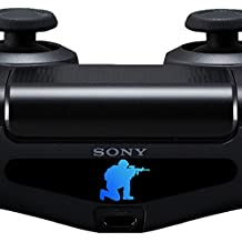 2x Sticker PS4 Controller Decal Aufkleber Soldat Soldier Aiming Light Bar LED Playstation 4