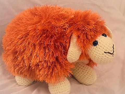 Peluche oreiller orange doux jouet coussin oreiller animal cadeau fait à la main parfait pour les enfants