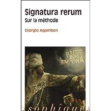 Signatura Rerum. Sur la Méthode