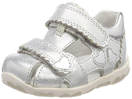 en Fanni Sandalen, Silber (Silber Kombi), 23 EU (Baby Schuhe Mädchen Silber)