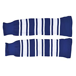 SCHANNER – Erwachsenen Hockeystutzen NHL Senior I Schienbeinschutz I Stutzen für Hockeyspieler I Eishockey-Stutzen I ideale Passform I 100% Polyester – Blau/Weiß