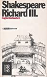 """König Richard III. Englisch und Deutsch (Mit einem Essay """"Zum Verständnis des Werkes"""" und einer Bibliographie von Wolfgang Clemen) - Shakespeare"""