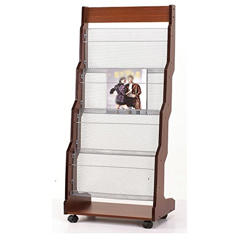 Porte-magazines et porte-journaux Etagères De Magasin Woody Simple Landing Bookstand It Can Move Display Stand
