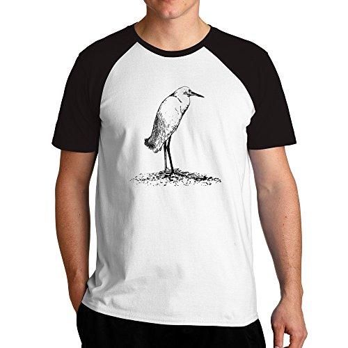 Eddany Snowy Egret sketch Raglan T-Shirt - Snowy Egret Tiere