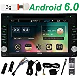 Libre 3G Dongle Incluir 6.2 pulgadas Android 6.0 melcocha Stereos Quad-core CPU 1.6GHZ HD Multi-pantalla t¨¢ctil de coches reproductor de DVD en la rociada 2din Doulbe de radio Auto Ayuda de navegaci¨®n GPS Bluetooth USB Wifi Aux SD Espejo Enlace