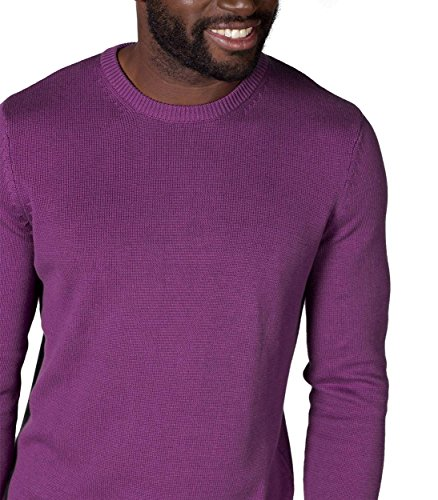 WoolOvers Pull à col rond - Homme - 100 % coton Orchid