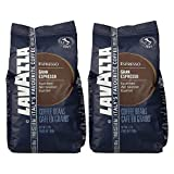 Lavazza Kaffee Gran Espresso, ganze Bohnen, Bohnenkaffee (2 x 1kg Packung)
