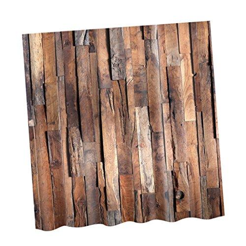 Sharplace Duschvorhang Wasserdichter Anti-Schimmel 180X180 cm - Bauholz, 180x180cm