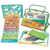 Zeichenschablonen-Künstler-Set für Kinder, Reiseaktivität und Lernspielzeug zur Förderung der Kreativität von Kindern - ideales Geschenk für Jungen und Mädchen, Kinder oder Teenager