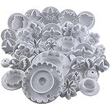 32-Teiliges Tortendeko-Set mit Ausstechformen / Druckstempel für Blumen / Laubblatt / Formen by Curtzy TM