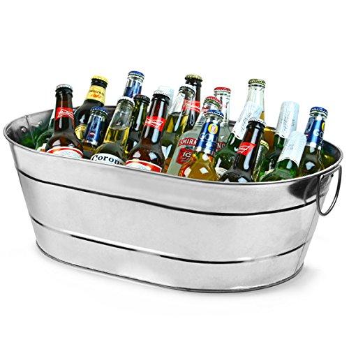 Stahl, verzinkt, Oval, Party Box, groß, für ein rustikales Getränke Service