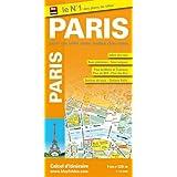 Plan de Paris - Avec localisation des stations Vélib', et plans : du métro, des Bus, du RER et du tramway - Echelle : 1/12 000