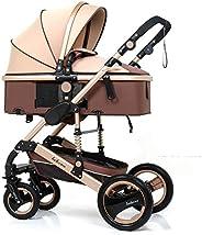 Infant Stroller High Landscape Fold Baby Stroller with Rubber Wheel Good Shock absorption Baby Pram, Belecoo,