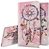 Galaxy S5 Fall, phezen Elegantes 3D Bling Blau Dream Catcher Muster, Design Premium PU Leder Wallet [Ständer] [Card/Cash Slots] Schutzhülle Flip Cover Case für Samsung Galaxy S5 Pink Dream Catcher -