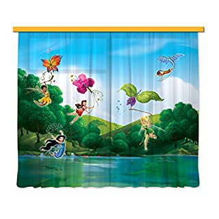 Gardine/Vorhang FCS xl 4317 Kinderzimmer Disney Fairies