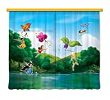 Gardine/Vorhang FCS xl 4317 Kinderzimmer Disney Fairies