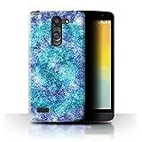 Stuff4 Phone Case for LG L Bello/D331 Teal Fashion Bokeh