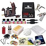 Dragonhawk Complete Tattoo Kit 1 Dragonhawk Mate Tattoo Machine Gun 6 Immortal Tattoo Inks Power Supply Needles Grips Tips 1013GD