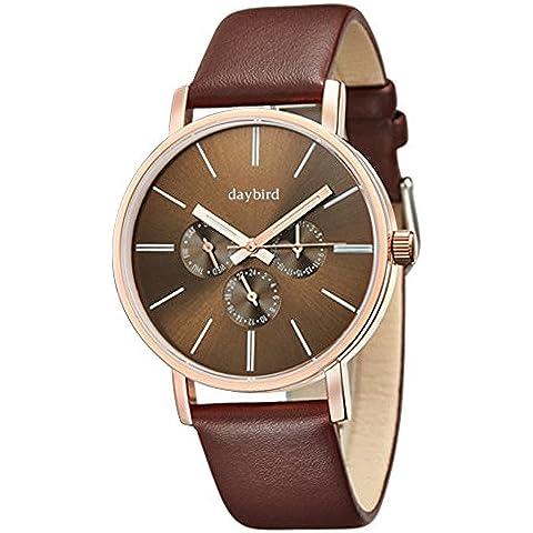 nuova multifunzione orologio/Moda sport impermeabile orologio luminoso/ business casual in pelle cinghia orologio-A