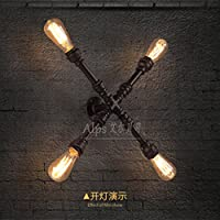 kinine studio lampada da parete lampada da parete del tubo industriale creativo americano retrò caffè Ferro Loft Bookshelf parete