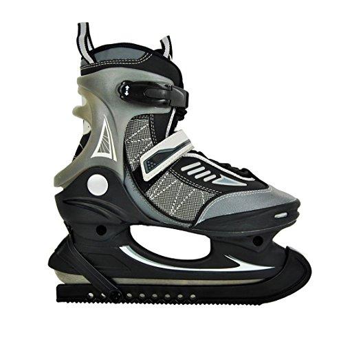 Hochwertige Herren Schlittschuhe Softboot Eislaufschuhe EishockeyJungen Grau/Schwarz 41