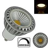 GU10 COB LED Spot 5 Watt dimmbar aus Keramik warmweiß 3000 Kelvin Leuchtmittel Strahler Glühbirne Birne Reflektor für Dimmer