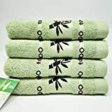 TK.DILIGARM Bathroom/Home/Kitchen Bamboo Fiber Cotton Towels,Bath Towels/Washcloths/Hand Towels/Baby Towels -Natural,Ultra Absorbent and Ultra Soft Better Than Cotton.4 Piece