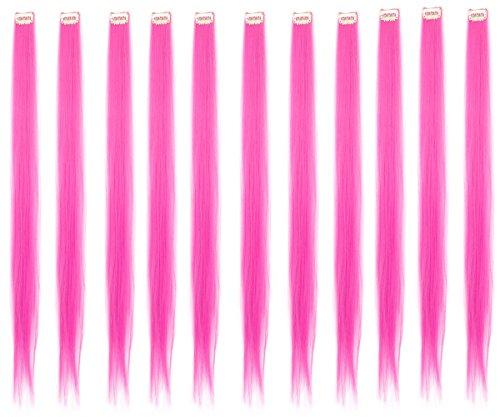 Einzelstück Haarverlängerung Synthetisch Mehrfarbig Klammer Streifen Haar 11 Stück (Haus Elf Kostüm)