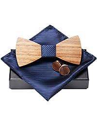 Amzchoice KOOWI La Corbata de Madera Hecha a Mano del Lazo de Madera de Los  Hombres 491b38b6f52