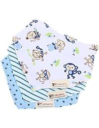 ninos saliva toalla - crtartu Pack de 3 baberos con imagenes divertidad para ninos beach