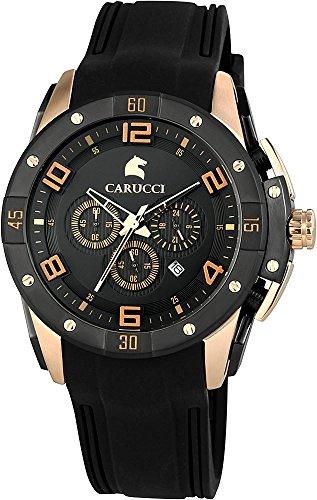 Carucci Watches Orologio da polso uomo, analogico al quarzo gomma ca2214bk della RG