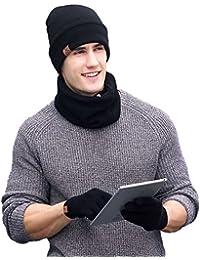 3 PCS Winter Beanie Hat Scarf Gloves Set 6c4488d1e27