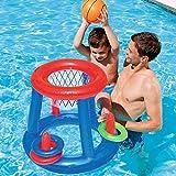 Agua Baloncesto Baloncesto Piscina Flotador Inflable Piscina Juguete Deporte acuático Juguete Piscina Juguetes flotantes para niños, multicolor