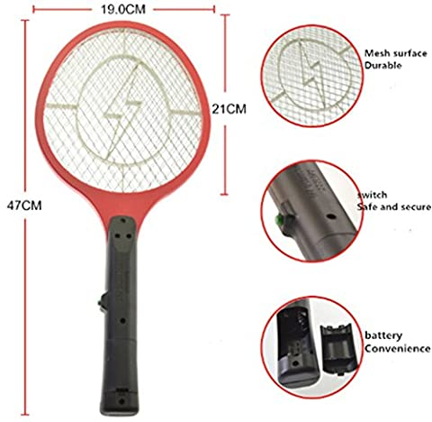 Fly Swatter Zap Mosquito Zapper Best for Indoor and Outdoor Pest Control Large Electric Swatter for Flies, Mosquitos, Wasps & Other Insects (Pink)