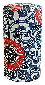 Yamaco Boîte à thé Bleu et Blanc Floral Papier Washi