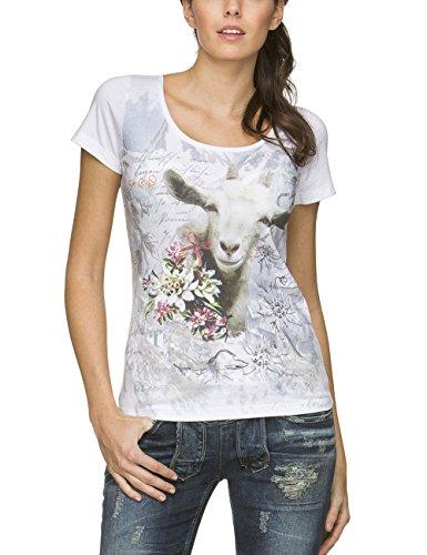 Stockerpoint Damen T-Shirt Shirt Liabe Goaß Weiß (weiss)