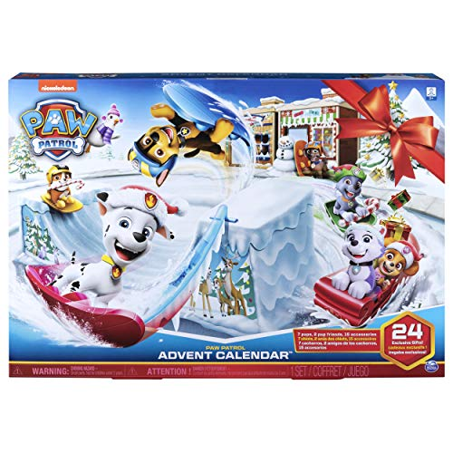 Paw Patrol 6052489 2019 Advent Calendar with 24 Collectible Pieces, for Kids Aged 3 Years and Over, Multicolour