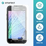 1x Protector de Pantalla de Cristal Templado para Samsung Galaxy J1 2015 de smartect® | Lámina Protectora Ultrafina de 0,3mm | Vidrio Robusto con Dureza 9H y Antihuellas Dactilares