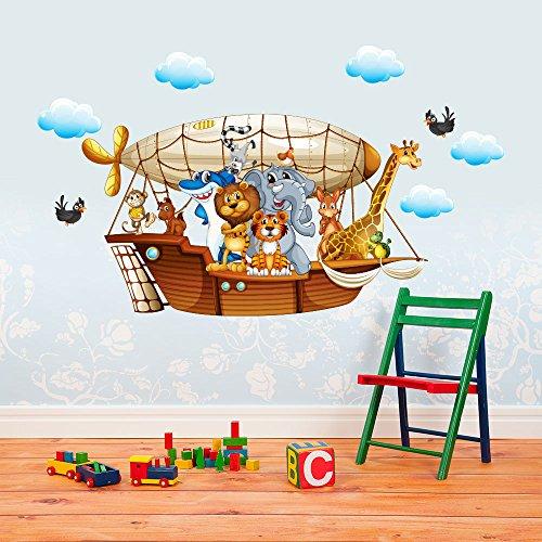 R00227 Adesivo murale per bambini Wall Art - Il dirigibile - Misure...