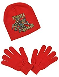 Gorro y guantes para niño, diseño de Las Tortugas Ninja, 3 colores de 3 a 9 años