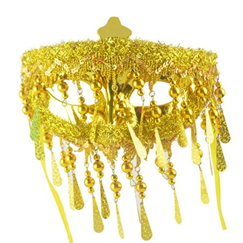 QTJKH Horror Maske Venezianische Maskerade Golden Fashion Party Maske Halloween Maskerade Golden Kostüm Kostüm Ball Cosplay Prop Maskerade Kostüm - Goldene Bären Kostüm