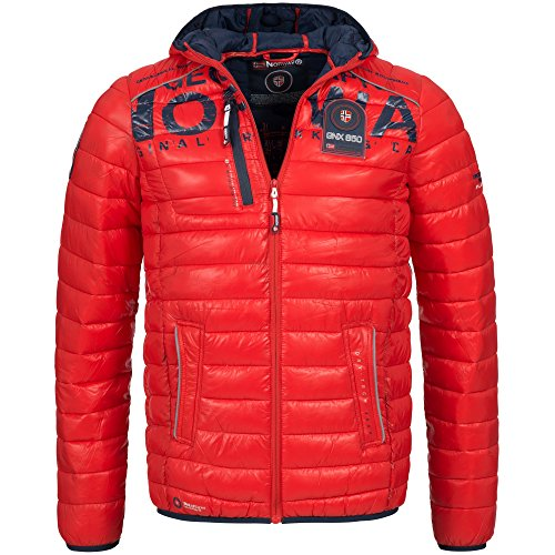 Geographical Norway BUDAPEST Herren Winterjacke Jacke Outdoor Steppjacke Gr. S-XXXL 4-Farben, Größe:S;Farbe:Rot