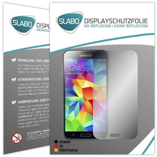 Slabo 4 x Bildschirmschutzfolie kompatibel für Samsung Galaxy S5 / S5 Neo